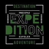 Het uitstekende ontwerp van de de aardtypografie van het expeditieavontuur stock illustratie
