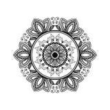Het uitstekende ontwerp van de kalamkari decoratieve illustratie royalty-vrije stock afbeelding