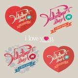 Het uitstekende ontwerp van de valentijnskaartendag Royalty-vrije Stock Foto's