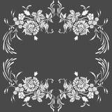 Het uitstekende ontwerp van het bloempatroon Royalty-vrije Stock Fotografie