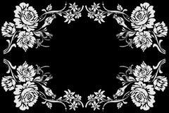 Het uitstekende ontwerp van het bloempatroon Stock Afbeeldingen