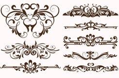 Het uitstekende ontwerp van ornamentengrenzen Stock Foto's