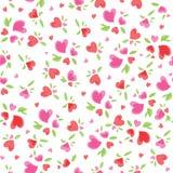 Het uitstekende Patroon van de Valentijnskaart Royalty-vrije Stock Fotografie