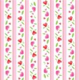 Het uitstekende Patroon van de Valentijnskaart Royalty-vrije Stock Foto's