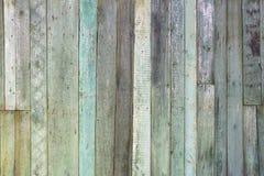 Het uitstekende sjofele doorstane turkoois schilderde houten textuur als achtergrond Stock Afbeeldingen