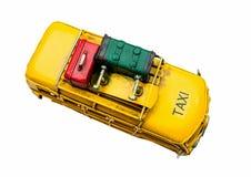 Het uitstekende speelgoed van de taxiauto Stock Afbeeldingen