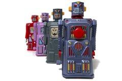 Het uitstekende speelgoed van de tinrobot Stock Foto's