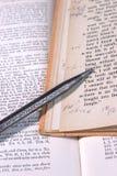 Het uitstekende Stenografie Schrijven Royalty-vrije Stock Foto's