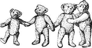 Het uitstekende stuk speelgoed van Illustratieteddyberen Royalty-vrije Stock Fotografie