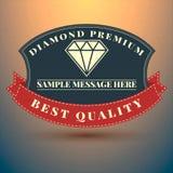 Het uitstekende symbool van het diamantembleem Kan voor T-shirtsdruk, l worden gebruikt Stock Afbeeldingen