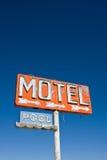 Het uitstekende Teken van het Motel royalty-vrije stock foto