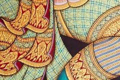 Het uitstekende traditionele Thaise stijlkunst schilderen royalty-vrije stock foto