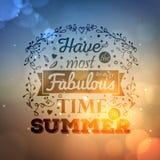 Het uitstekende typografie van letters voorzien met bloemenornamenten en vage achtergrond Royalty-vrije Stock Fotografie