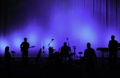 Het uitvoeren van Band in Silhouet Royalty-vrije Stock Afbeelding