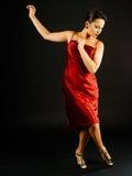 Het uitvoeren van de bewegingen van de tangodans Stock Afbeelding
