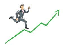 Het uitvoerende lopen van het vertrouwen Stock Foto's