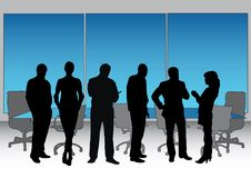 Het Uitvoerende Silhouet van de bestuurskamer Stock Afbeelding