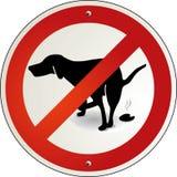 Het uitwerpsel van de hond aan verbod Vector Illustratie