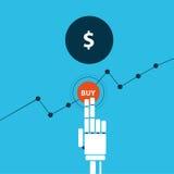 Het uitwisselen van robothand koopt dollar Stock Illustratie