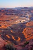 Het Uitzicht van Canyonlands van Groene Rivier overziet Royalty-vrije Stock Fotografie