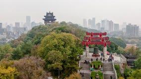 Het uitzicht van de heuveltop in Wuhan, China royalty-vrije stock afbeeldingen