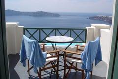 Het uitzicht van Santorini Royalty-vrije Stock Fotografie