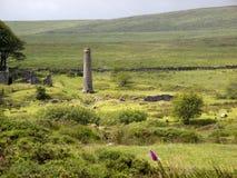 het UK, Devon, Dartmoor, Poeder maalt dichtbij Postbridge stock foto