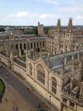 het UK, Engeland, Oxfordshire, Oxford, Al Zielenuniversiteit Royalty-vrije Stock Fotografie