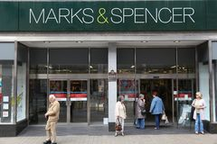 het UK Marks and Spencer Stock Fotografie