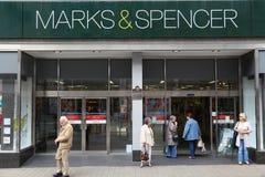 het UK Marks and Spencer Stock Fotografie