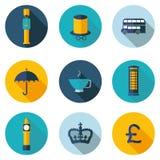 het UK, pictogrammen in vectorformaat Royalty-vrije Stock Afbeeldingen
