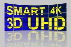 Het ultra Hoge concept van Definitie slimme TV Stock Afbeelding