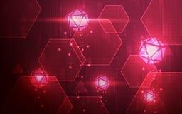 Het ultravirus van FI van Sc.i van HD Abstract en de Technologiebehang van Spamwaren Stock Foto's