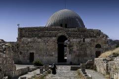 Het Umayyad-Paleis in Amman, Jordanië stock afbeelding