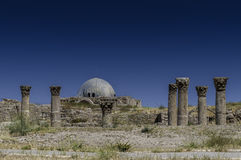 Het Umayyad-Paleis in Amman, Jordanië stock foto's