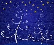 Het unieke Blauw van Kerstbomen royalty-vrije illustratie