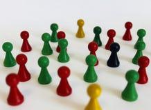 Het unieke chef- kleurrijke groene belangrijke voorwerp van het teamcijfer Royalty-vrije Stock Afbeeldingen