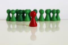 Het unieke chef- rode groene belangrijke voorwerp van het teamcijfer Stock Afbeeldingen