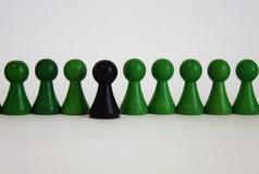Het unieke chef- zwarte groene belangrijke voorwerp van het teamcijfer Royalty-vrije Stock Foto's