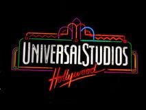 Het Universele teken van Studio'shollywood stock foto's