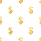 Het universele vector naadloze patronen betegelen financiën Stock Afbeelding