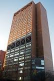 Het Universitaire Medische Centrum van Colombia, de de Wetenschapsbouw van de Hamergezondheid, vooraanzicht Stock Foto