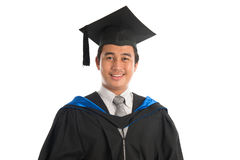 Het universitaire portret van de studentengraduatie Stock Foto's