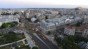 Het Universitaire Vierkant van Boekarest timelapse, Boekarest stock footage