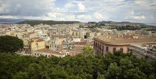 Het urbanisme van Cagliari stock afbeeldingen