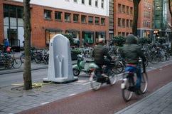 Het urinoir van de Outdorestraat in Amsterdam stock afbeelding