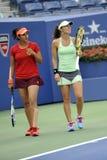 Het US Open 2015 van Hingismartina mirza sania (66) Royalty-vrije Stock Foto