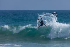Het US Open van Kanoaigarashi throws tail to win van het Surfen Royalty-vrije Stock Afbeeldingen