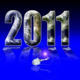 Het uur 2011 van de aarde Stock Afbeeldingen