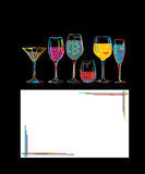 Het uur van de cocktail Stock Afbeeldingen